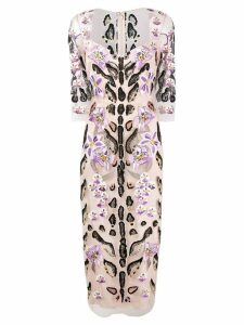 Temperley London Pardus fitted dress - Pink