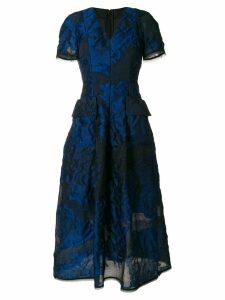 Talbot Runhof floral embellished dress - Blue