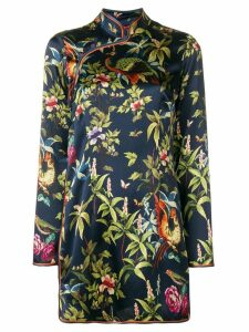 F.R.S For Restless Sleepers printed silk dress - Blue