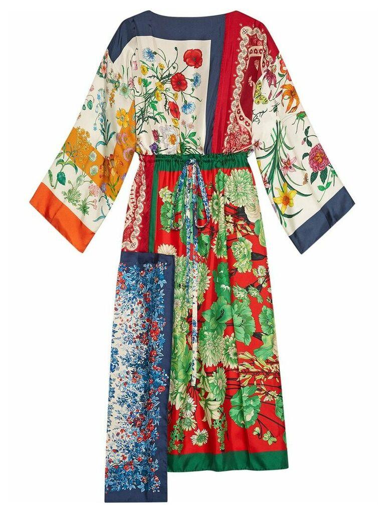 Gucci Patchwork scarves kaftan - Multicolour