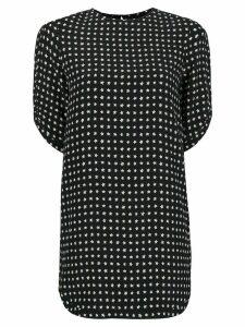 Saint Laurent star print mini dress - Black