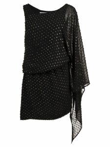 Haney asymmetric short dress - Black
