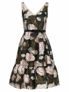 Erdem sleeveless floral jacquard A-line silk blend mini dress - Black