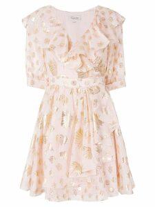 Temperley London Riviera ruffle wrap dress - Pink