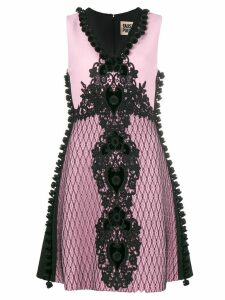 Fausto Puglisi embroidered a-line dress - Pink