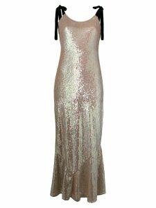 Attico tie shoulder sequin maxi dress - Neutrals