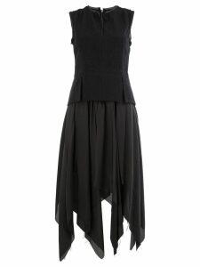 Masnada asymmetric full skirt dress - Black
