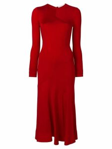 Esteban Cortazar longsleeved full circle dress - Red