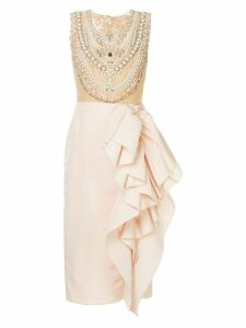 Marchesa embellished bodice cocktail dress - Pink
