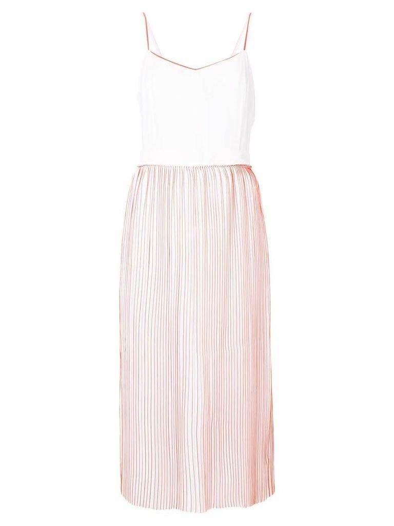 Victoria Victoria Beckham contrast piped midi dress - White