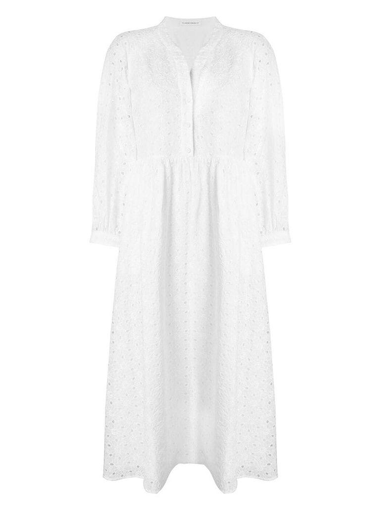 Vilshenko broderie anglaise shirt dress - White