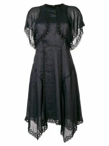 Isabel Marant embroidered flared dress - Black