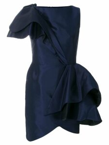 Lanvin asymmetric ruffle dress - Blue