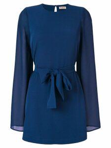 Blanca tie waist dress - Blue