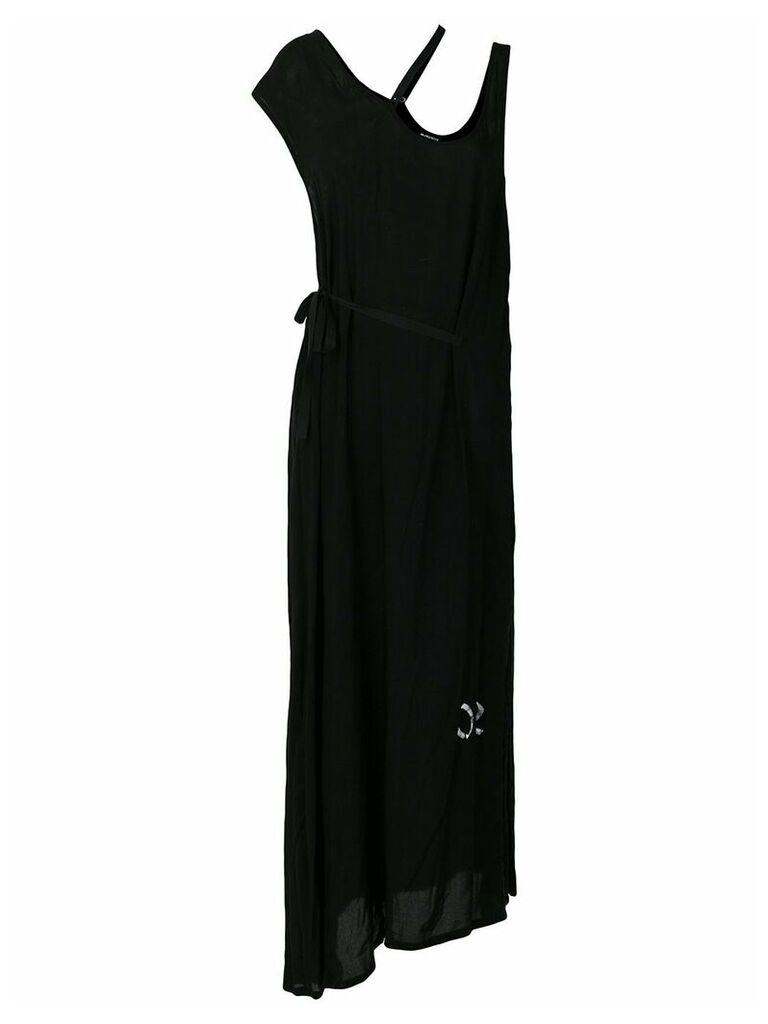 Ann Demeulemeester asymmetric maxi dress - Black