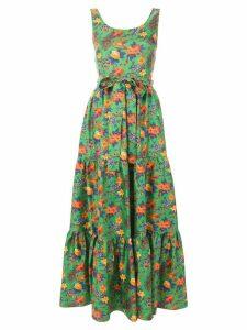 La Doublej garden print dress - Green