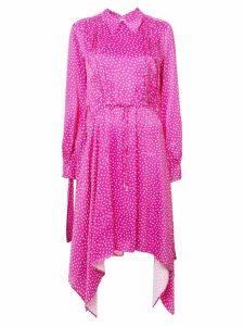 Off-White printed satin dress - Pink