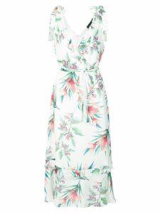 Nicole Miller printed sleeveless dress - White