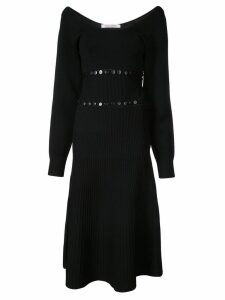 Prabal Gurung scoop neck convertible knitted dress - Black