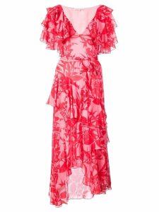 Borgo De Nor floral ruffled dress - Pink