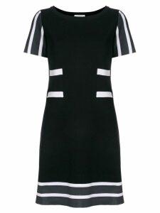Charlott striped details knit dress - Black