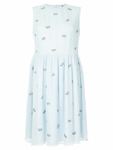 Jupe By Jackie embroidered butterflys dress - Blue