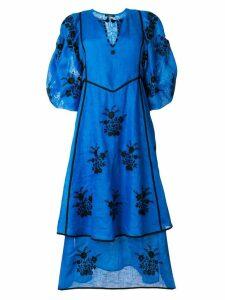 Vita Kin embroidered flower dress - Blue