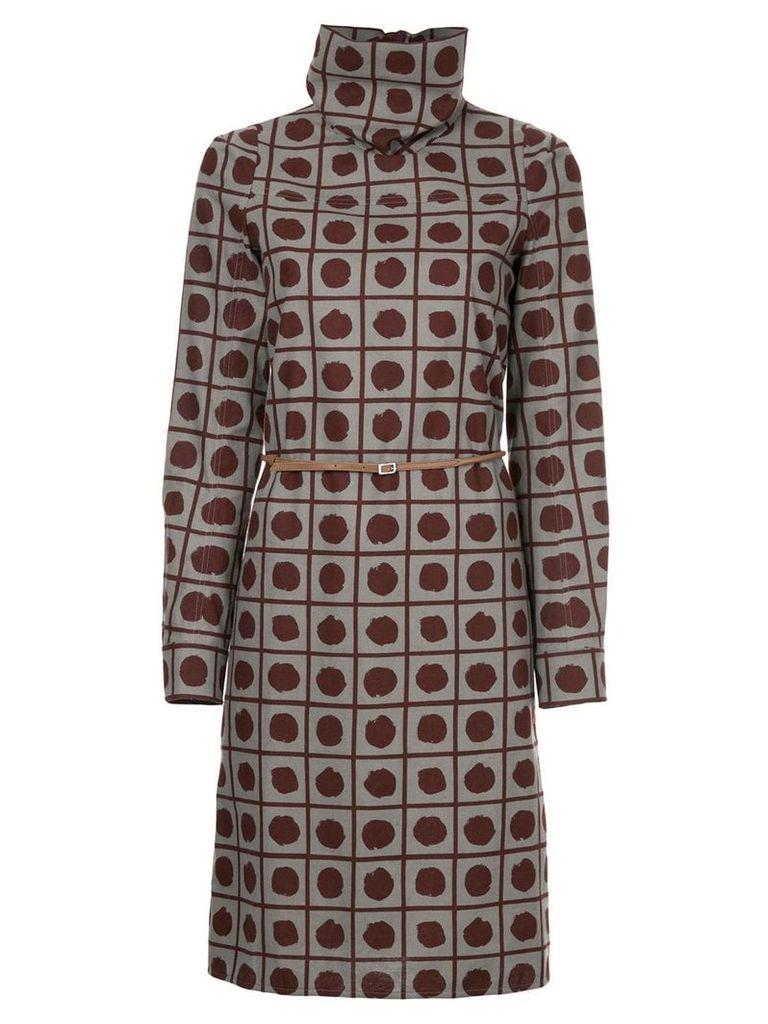 Marni patterned turtleneck dress - Grey