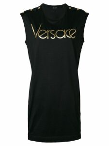 Versace logo T-shirt dress - Black