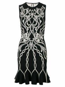 Alexander McQueen knitted jacquard dress - Black