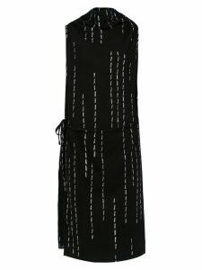 Uma Raquel Davidowicz Modern micro-pleated dress - Black