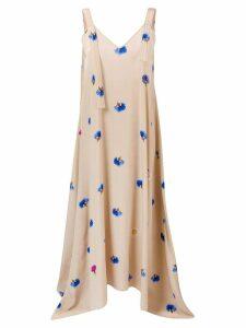 Natasha Zinko floral maxi slip dress - Neutrals