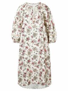 Morye Vilshenko floral print midi dress - Neutrals