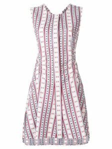 Carven striped sleeveless flared dress - Multicolour