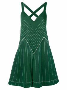 Valentino VLTN hammered satin dress - Green
