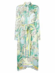 Emilio Pucci floral belted shirt dress - Multicolour