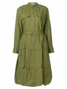 JW Anderson multi pocket shirt dress - Green