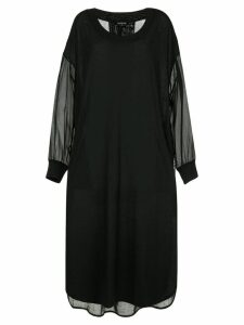 Ann Demeulemeester sheer dip-hem dress - Black