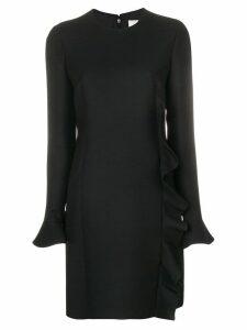 Valentino ruffle trimmed dress - Black