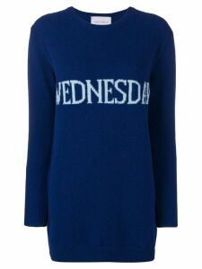 Alberta Ferretti Wednesday sweater dress - Blue