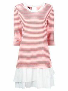 Boutique Moschino stripe layered dress