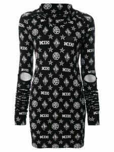 KTZ logo embroidered dress - Black