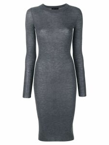 Cashmere In Love Tiera fine knit dress - Grey