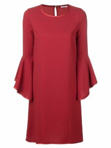 P.A.R.O.S.H. frill sleeve shift dress - Red