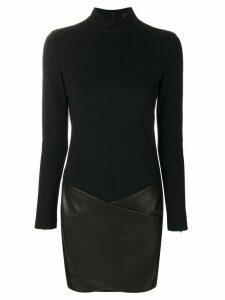 Barbara Bui contrast material dress - Black