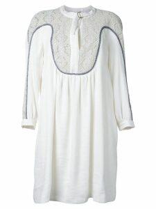 Chloé guipure insert dress - White