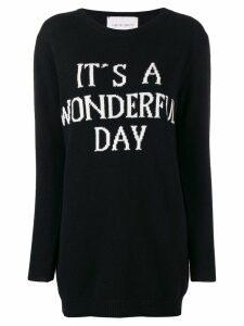 Alberta Ferretti It's a Wonderful Day sweater dress - Black