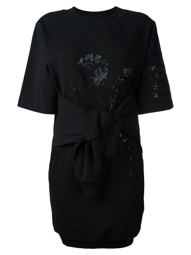 Moschino knot front sweatshirt dress - Black