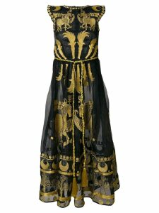 Yuliya Magdych Dayspring Horse embroidered dress - Black