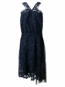 Nº21 lace and net sleeveless dress - Blue